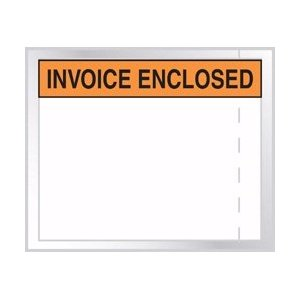 4-1/2X5-1/2 INVOICE ENCLOSED CLEAR WINDOW 100/PK